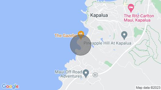 TURTLE COVE CABANA! Big Ocean Views! Napili Point Map