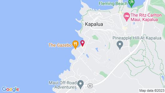 Napili Sunset on the Beach Map