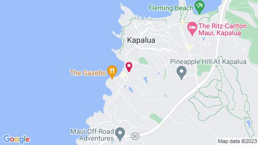 The Mauian - Boutique Beach Studios on Napili Bay Map