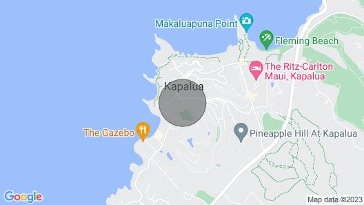 Spacious Ridge Villa Close to Kapalua Beach Private Lanai + Golf Course Access Map