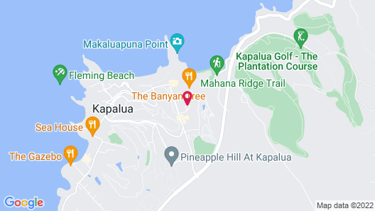 The Ritz-Carlton Maui, Kapalua Map