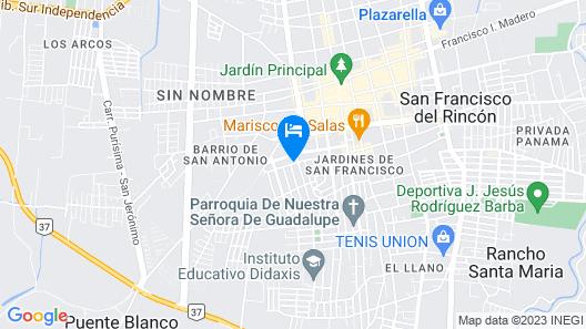 Casa Cielito Mexicano Map