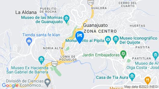 Casona de Cervantes Map