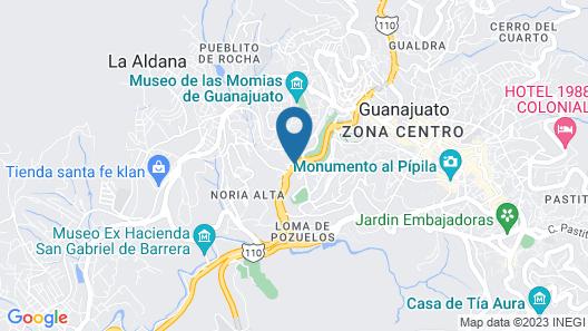 Hotel Real de Minas Guanajuato Map
