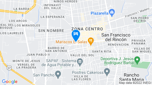 Hotel Artesanos Map