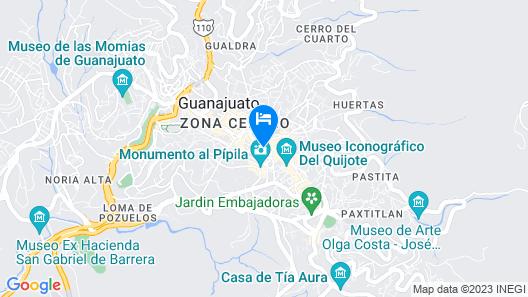 Alonso 10 Hotel Boutique & Arte Map
