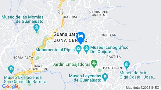 Hotel de la Paz Map