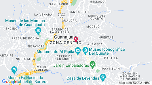 Hotel Real Guanajuato Map