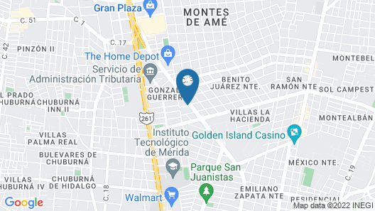 City Express Merida Map