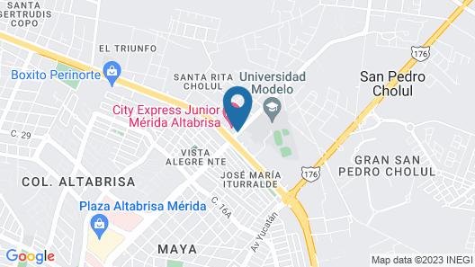 City Express Junior Merida Altabrisa Map