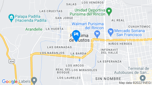 Hotel Posada Purisima Map