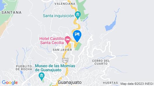 Las Enredaderas Map