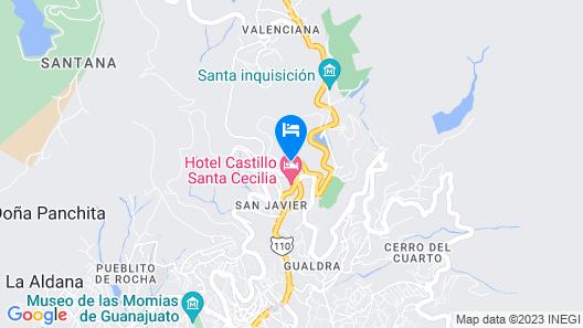Hotel México Plaza Guanajuato Map