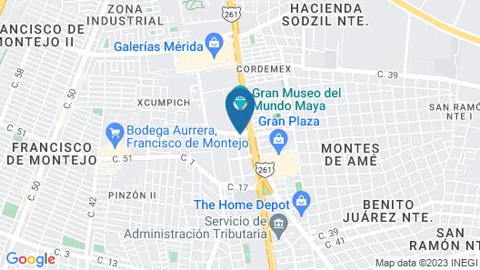 Fiesta Inn Merida Map