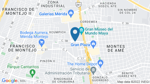 Extended Suites Merida Siglo XXI Map