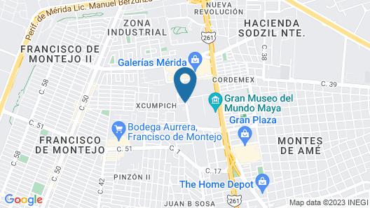 Hampton Inn by Hilton Merida, Yucatan, Mexico Map