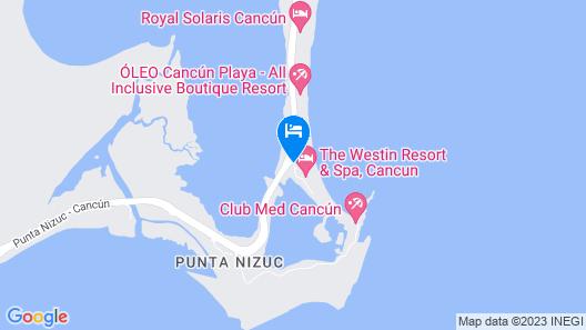 Club Regina Cancun Map