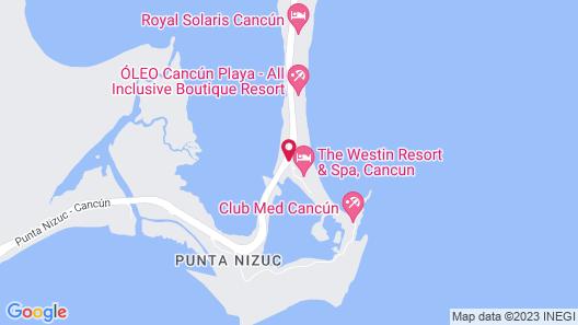 The Westin Resort & Spa Cancun Map
