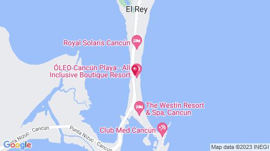 Oleo Cancun Playa All Inclusive Boutique Resort  Map