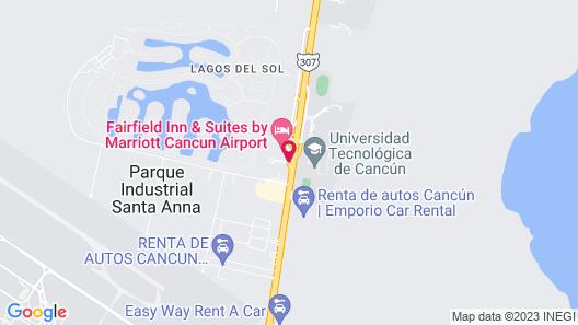 Courtyard By Marriott Cancun Airport Map