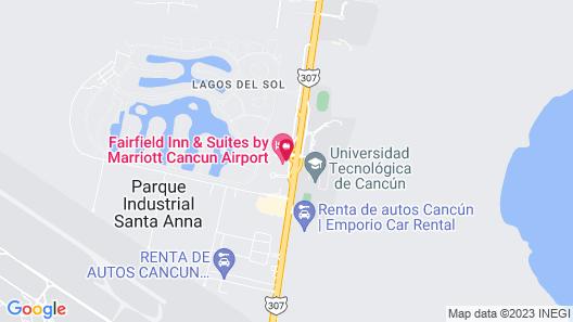 Fairfield Inn & Suites by Marriott Cancun Airport Map