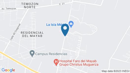 Holiday Inn Hotel & Suites Merida La Isla Map
