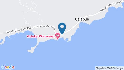 2BR Ocean View Oasis on Molokai Map