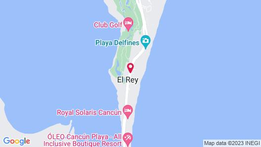 Crown Paradise Club Cancun All Inclusive Map