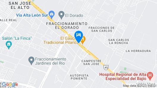 Gamma by Fiesta Inn León Map