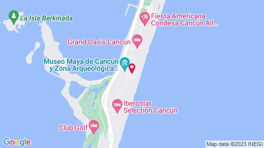 Emporio Cancun All Inclusive Map