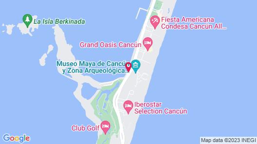 Cancun Plaza Condo Map