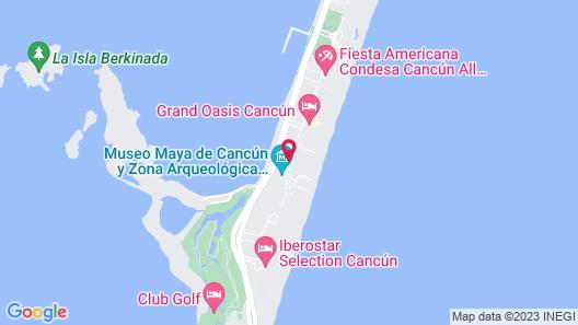 Caracol Bay Cancun - All Inclusive Map