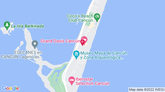 Grand Oasis Cancun All Inclusive Map
