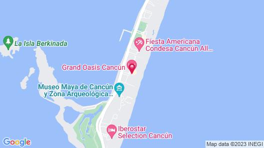 Grand Oasis Cancun Todo Incluido Map