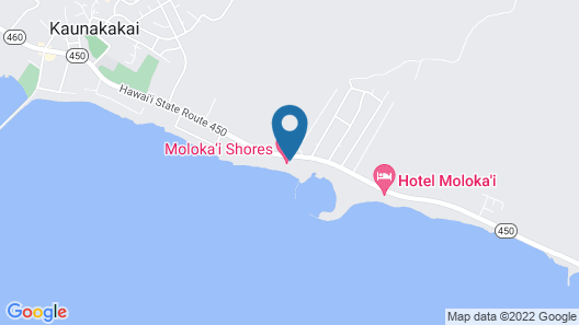 $99/ Night Special NOW TIL July 31, 2020 Ocean Front Condo Molokai, Hawaii Map