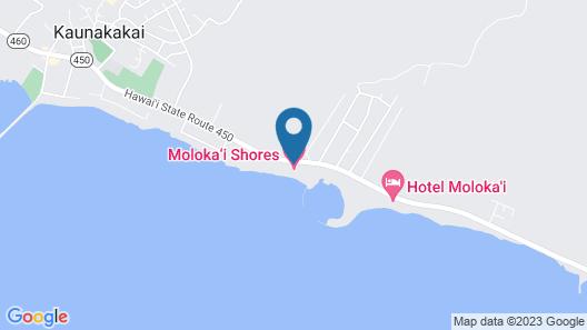 Ocean Edge Family Fave! Island Decor, Loft, Large Lanai, Kitchenmolokai Shores 334 Map