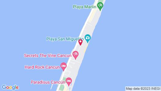 The Ritz-Carlton, Cancun Map