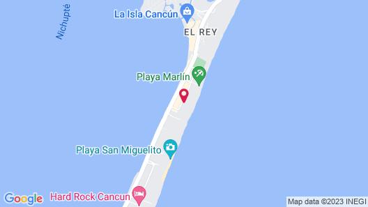 Occidental Tucancún All Inclusive Map