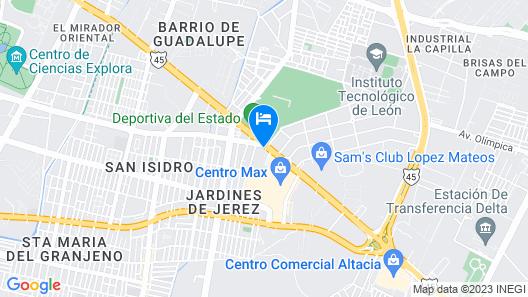 Fiesta Inn Leon Map