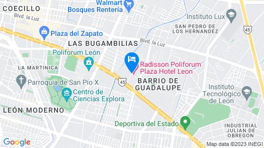 Radisson Poliforum Plaza Hotel Map