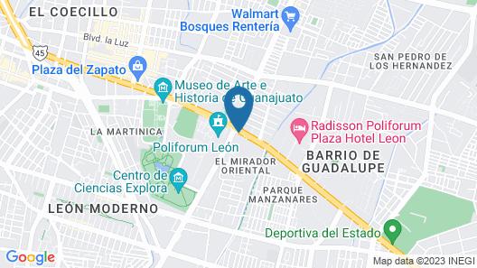 Imperio de Angeles Executive by Real de Minas Business Class Map