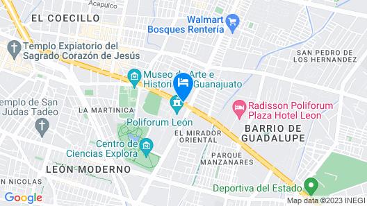City Express Junior León Centro de Convenciones Map