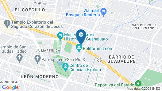 Real de Minas Poliforum Map