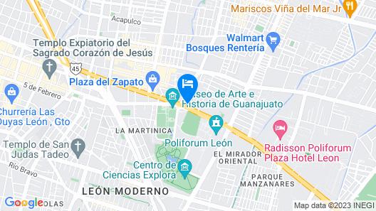 City Express Plus León Centro de Convenciones Map