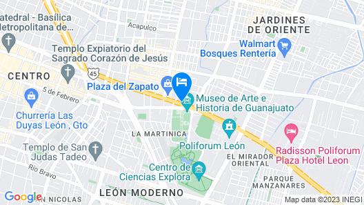 Hampton Inn by Hilton Leon Guanajuato Map