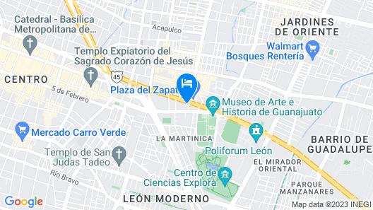 Holiday Inn Leon Map
