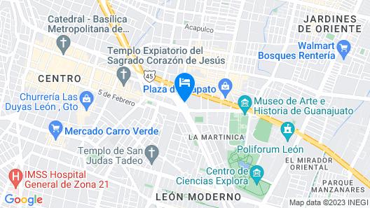 Eco Express Hotel Poliforum Map