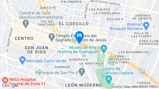 HS HOTSSON Hotel Leon Map