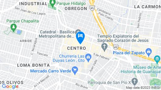 Hotel Leon Map