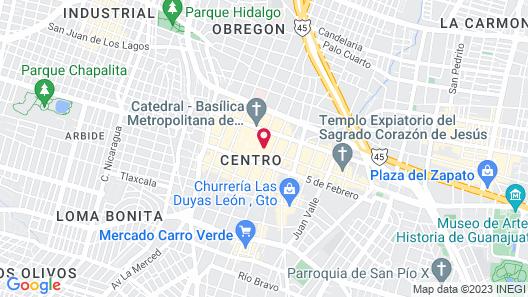Hotel León Map